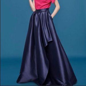 Eliza J cascade blue ball skirt